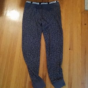Justice animal print activewear pants